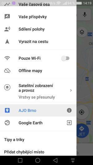 Carsharing Brno - Mapa
